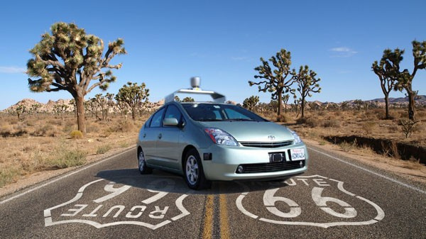 A Google driverless car. Image credit: google-driverless-cali © Sam Churchill. Licensed under Creative Commons via flickr.