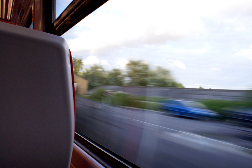 Although car ownership is still widespread, its popularity may be in decline in the UK; while rail travel is now more popular than at any time since WW2. Image: Speedy train is speedy by Sam Caplat licensed under Creative Commons via flickr