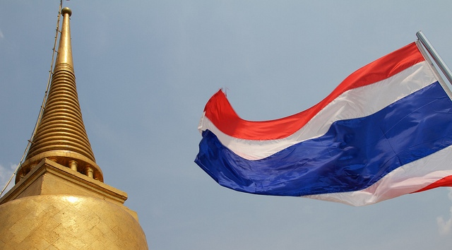 Image: Flying the Thai flag at WatSakret, Temple of the Golden Mount in Bangkok© Johan Fantenberg. Licensed under Creative Commons via flickr.