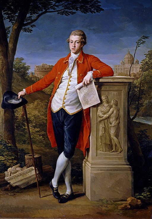 A portrait of a typical 18th century Grand Tourist: Portrait of Francis Basset, the future 1st Baron de Dunstanville and Basset (1757-1835), on the Grand Tour.